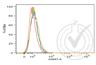 Flow Cytometry validation image for anti-Cadherin 1, Type 1, E-Cadherin (Epithelial) (CDH1) (AA 401-500) antibody (ABIN1387847)