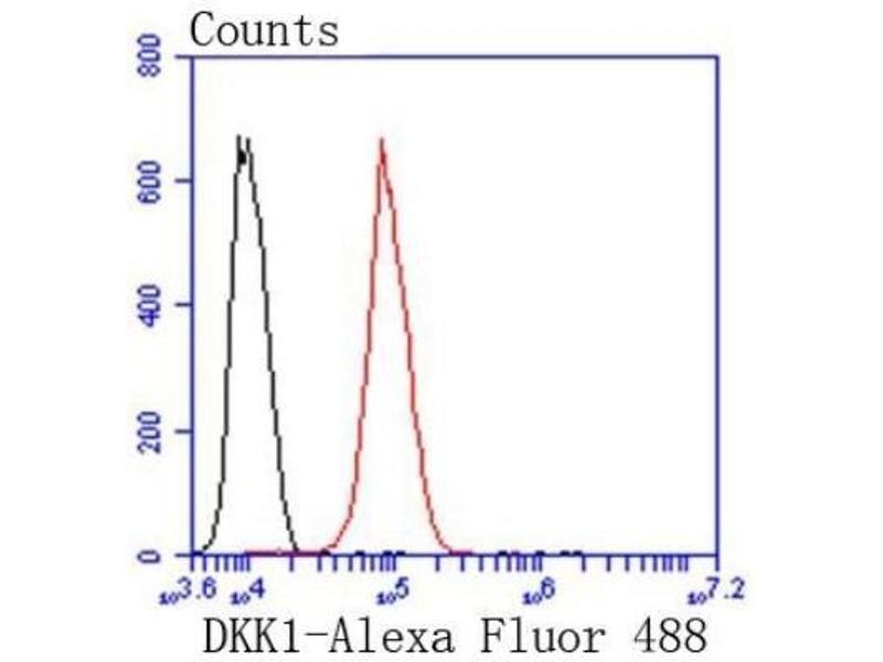 Flow Cytometry (FACS) image for anti-Dickkopf Homolog 1 (Xenopus Laevis) (DKK1) (AA 250-350) antibody (ABIN5947970)