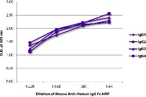 Image no. 1 for Mouse anti-Human IgG (Fc Region), (Heavy Chain) antibody (HRP) (ABIN135620)