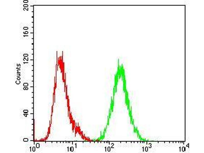 Flow Cytometry (FACS) image for anti-SHC (Src Homology 2 Domain Containing) Transforming Protein 1 (SHC1) (AA 385-495) antibody (ABIN5542463)