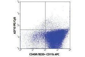 Flow Cytometry (FACS) image for anti-FLT3 antibody (Fms-Related tyrosine Kinase 3)  (PE-Cy5) (ABIN2658915)