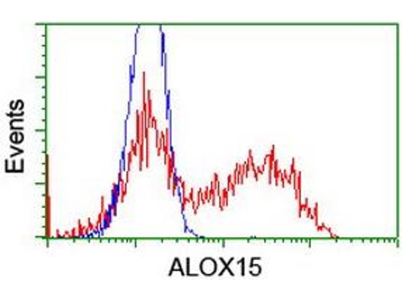 Flow Cytometry (FACS) image for anti-Arachidonate 15-Lipoxygenase (ALOX15) antibody (ABIN2455497)