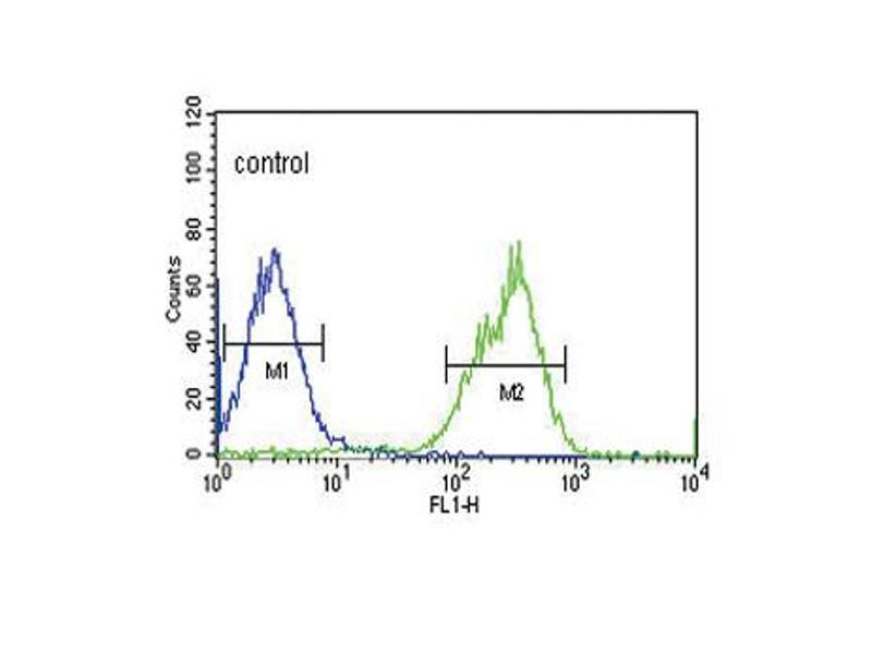 Flow Cytometry (FACS) image for anti-MAP4K3 antibody (Mitogen-Activated Protein Kinase Kinase Kinase Kinase 3) (ABIN2445335)