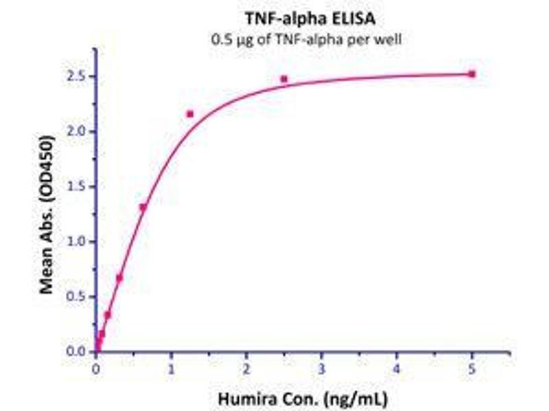 Binding Studies (Bind) image for Tumor Necrosis Factor (TNF) (AA 77-233) (Active) protein (ABIN2181831)