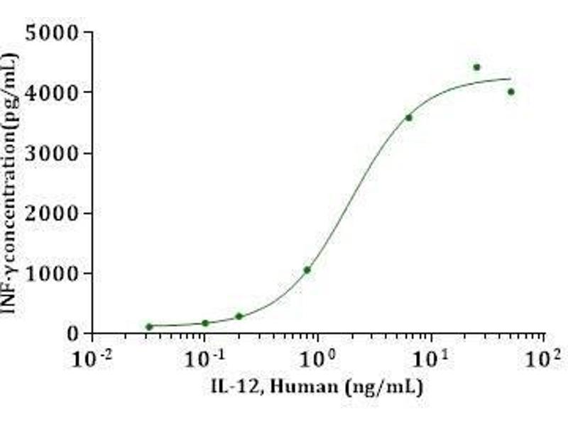 Activity Assay (AcA) image for Interleukin 12 (IL12) (AA 23-219), (AA 23-328) (Active) protein (ABIN2018013)