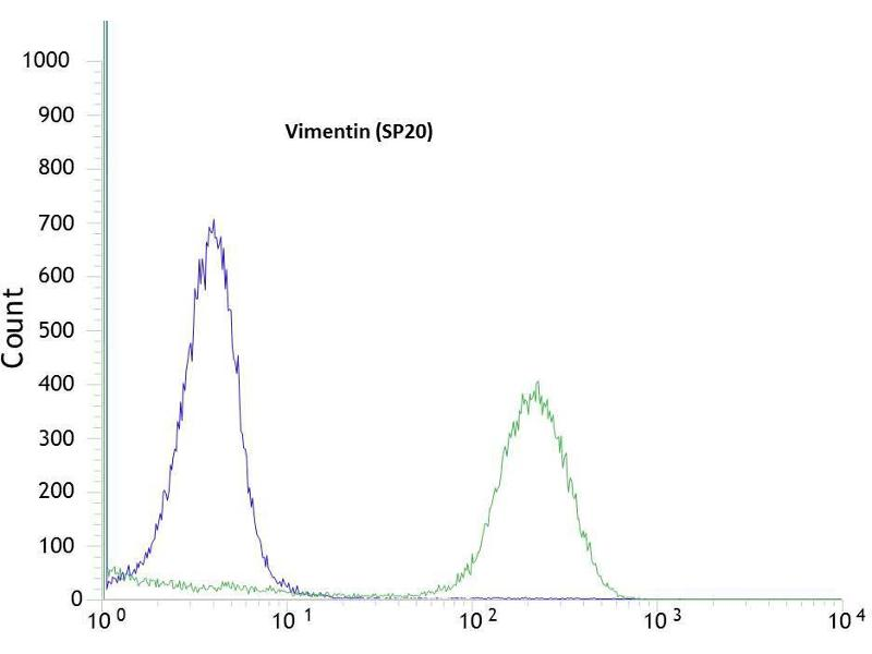 Flow Cytometry (FACS) image for anti-Vimentin antibody (VIM) (ABIN1686955)