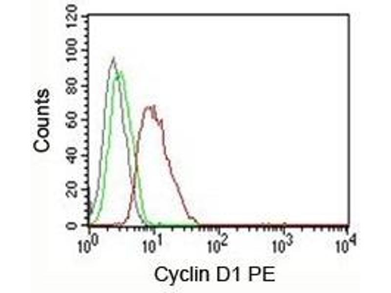 Flow Cytometry (FACS) image for anti-Cyclin D1 (CCND1) antibody (ABIN3026634)