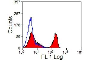 Flow Cytometry (FACS) image for anti-CD4 antibody (CD4 Molecule)  (PE) (ABIN2480185)