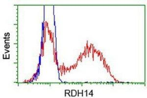 Flow Cytometry (FACS) image for anti-Retinol Dehydrogenase 14 (All-Trans/9-Cis/11-Cis) (RDH14) antibody (ABIN4349762)