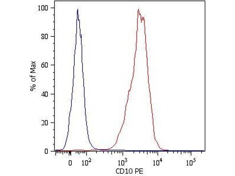 Flow Cytometry (FACS) image for anti-Membrane Metallo-Endopeptidase (MME) antibody (FITC) (ABIN93932)