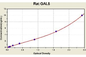 Image no. 1 for Lectin, Galactoside-Binding, Soluble, 8 (LGALS8) ELISA Kit (ABIN1115033)