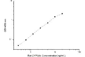 ELISA image for Cytochrome P450, Family 3, Subfamily A, Polypeptide 4 (CYP3A4) ELISA Kit (ABIN5519265)