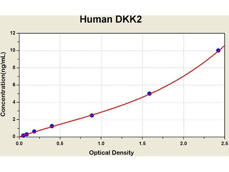 ELISA image for Dickkopf 2 Homolog (Xenopus Laevis) (DKK2) ELISA Kit (ABIN1114627)