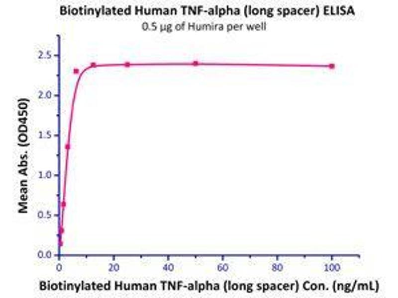 Binding Studies (Bind) image for Tumor Necrosis Factor (TNF) (Active) protein (Biotin) (ABIN2444226)