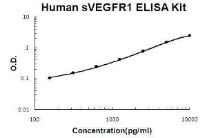 Image no. 1 for Fms-Related tyrosine Kinase 1 (Vascular Endothelial Growth Factor/vascular Permeability Factor Receptor) (FLT1) ELISA Kit (ABIN411372)