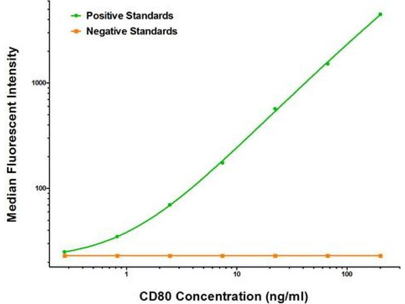 Luminex Assay (LMNX) image for anti-CD80 (CD80) antibody (ABIN2672688)