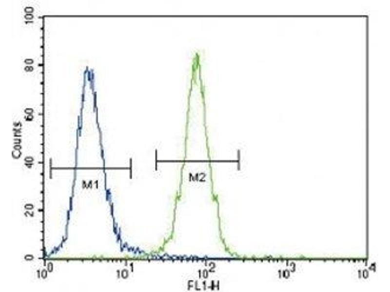 Flow Cytometry (FACS) image for anti-DDR1 antibody (Discoidin Domain Receptor tyrosine Kinase 1) (AA 17-47) (ABIN3030735)