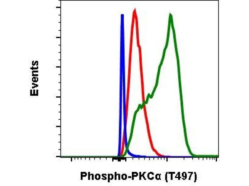 Flow Cytometry (FACS) image for anti-Protein Kinase C, alpha (PKCa) (pThr497) antibody (ABIN6390731)