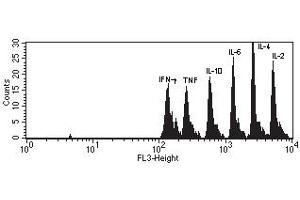 Flow Cytometry (FACS) image for Th1/Th2 Cytokine Kit II (ABIN1379791)
