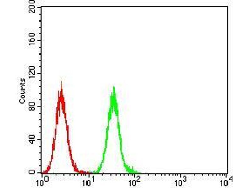 Flow Cytometry (FACS) image for anti-Phospholipase C gamma 2 (PLCG2) (AA 826-985) antibody (ABIN5542312)