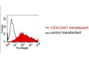 Flow Cytometry (FACS) image for anti-Carcinoembryonic Antigen-Related Cell Adhesion Molecule 1 (Biliary Glycoprotein) (CEACAM1) antibody (ABIN108725)