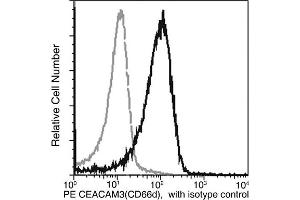 Image no. 1 for anti-Carcinoembryonic Antigen-Related Cell Adhesion Molecule 3 (CEACAM3) (AA 1-155) antibody (PE) (ABIN1999411)