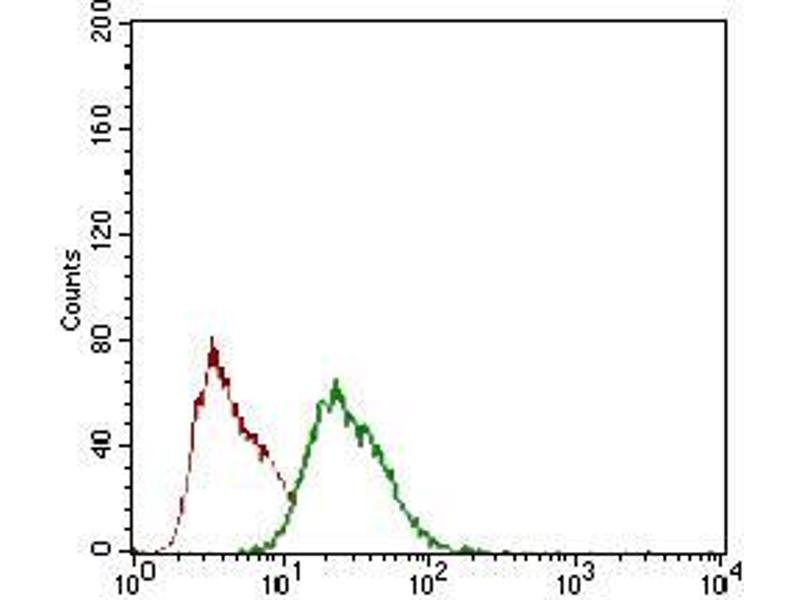 Flow Cytometry (FACS) image for anti-Zinc Finger Protein 42 (ZFP42) (AA 249-310) antibody (ABIN1724849)