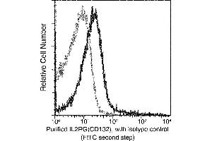 Flow Cytometry (FACS) image for anti-Interleukin 2 Receptor, gamma (IL2RG) (AA 1-263) antibody (ABIN5507503)