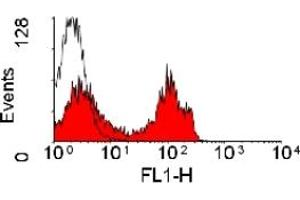 Flow Cytometry (FACS) image for anti-CD4 antibody (CD4 Molecule)  (FITC) (ABIN182100)