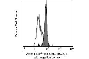Flow Cytometry (FACS) image for anti-Signal Transducer and Activator of Transcription 3 (Acute-Phase Response Factor) (STAT3) (pSer727) antibody (Alexa Fluor 488) (ABIN1177194)