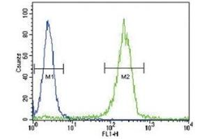 Flow Cytometry (FACS) image for anti-SOCS1 antibody (Suppressor of Cytokine Signaling 1) (AA 35-66) (ABIN3029042)