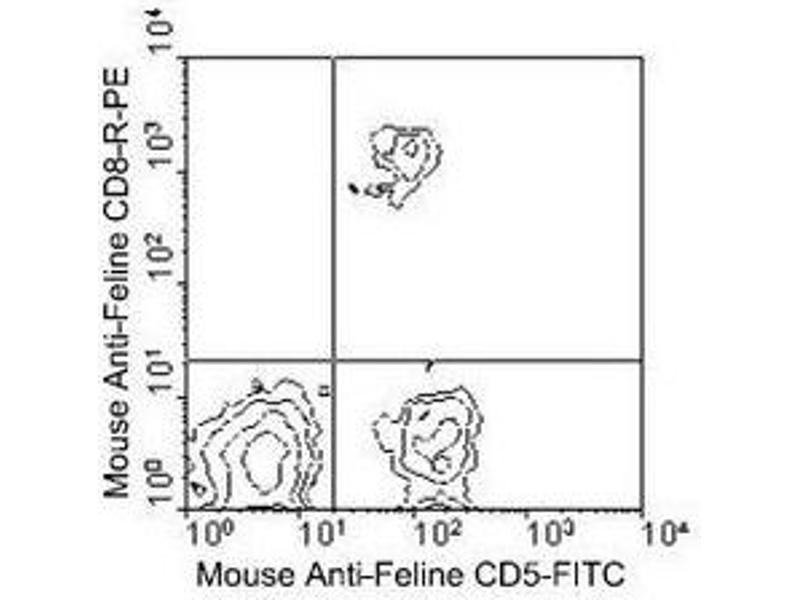 Flow Cytometry (FACS) image for anti-CD8a Molecule (CD8A) antibody (FITC) (ABIN440215)
