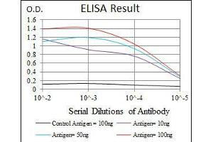 ELISA image for anti-RAG1 antibody (Recombination Activating Gene 1) (AA 818-868) (ABIN1098121)