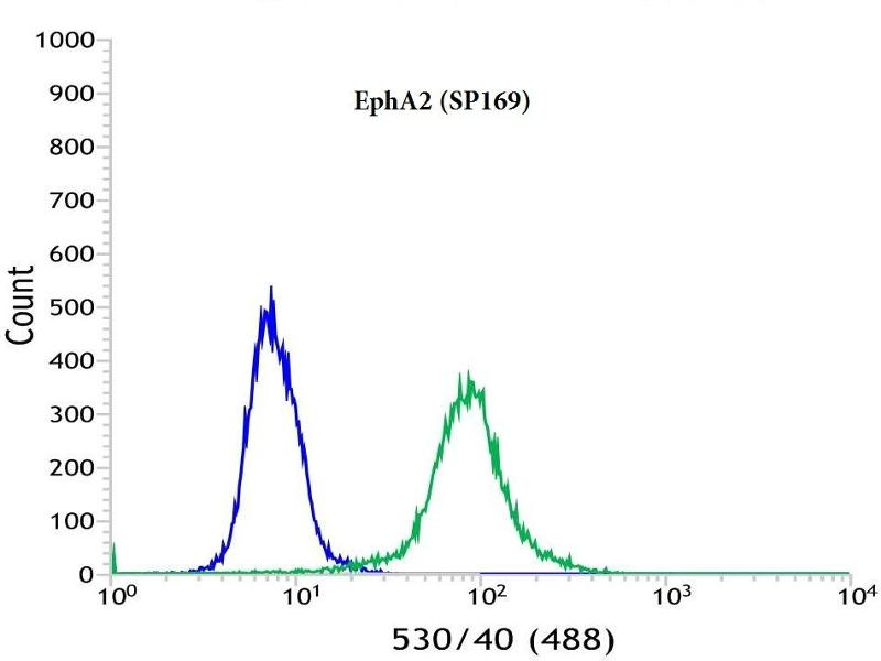 Flow Cytometry (FACS) image for anti-EPH Receptor A2 antibody (EPHA2) (Internal Region) (ABIN1687673)
