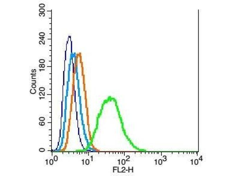 Flow Cytometry (FACS) image for anti-Cyclin-Dependent Kinase Inhibitor 1B (p27, Kip1) (CDKN1B) (AA 150-198) antibody (ABIN672621)
