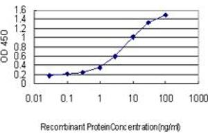 ELISA image for anti-WAS Protein Family, Member 2 (WASF2) (AA 73-172), (partial) antibody (ABIN564398)