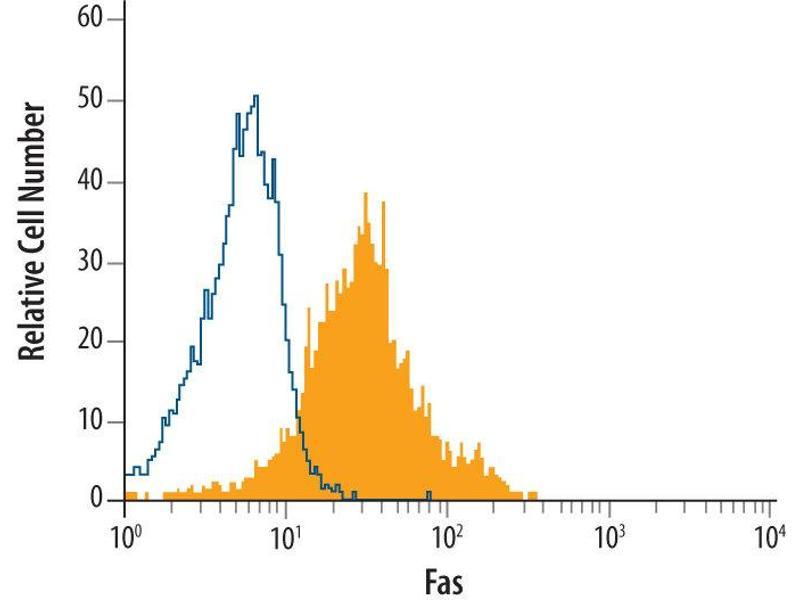 Flow Cytometry (FACS) image for anti-Fas (TNF Receptor Superfamily, Member 6) (FAS) (AA 25-172) antibody (ABIN4899876)