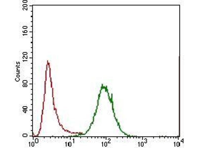 Flow Cytometry (FACS) image for anti-Interleukin 3 Receptor, alpha (Low Affinity) (IL3RA) (AA 200-305) antibody (ABIN1724855)