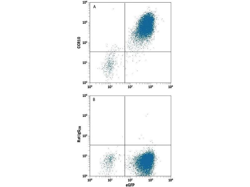 Flow Cytometry (FACS) image for anti-Chemokine (C-C Motif) Receptor 10 (CCR10) (AA 1-362) antibody (ABIN4899093)