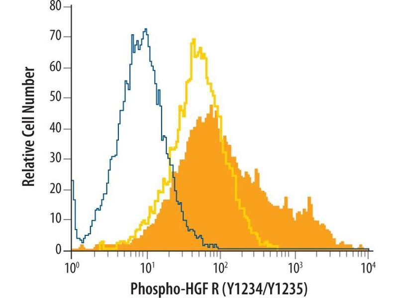 Flow Cytometry (FACS) image for anti-Met Proto-Oncogene (MET) (pTyr1234), (pTyr1235) antibody (ABIN4900630)