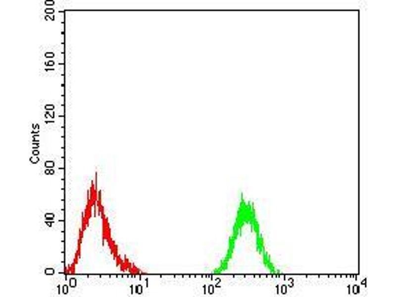 Flow Cytometry (FACS) image for anti-phospholipase C, gamma 1 (PLCG1) (AA 1192-1291) antibody (ABIN5542681)