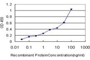 ELISA image for anti-Exocyst Complex Component 7 (EXOC7) (AA 586-684), (partial) antibody (ABIN565033)