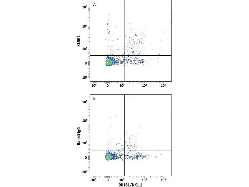 Flow Cytometry (FACS) image for anti-KLRG1 antibody (Killer Cell Lectin-Like Receptor Subfamily G, Member 1) (AA 57-188) (Allophycocyanin) (ABIN4897673)