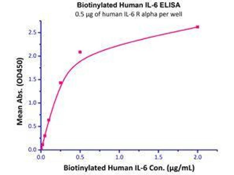 Binding Studies (Bind) image for Interleukin 6 (IL6) (Active) protein (Biotin) (ABIN2444149)