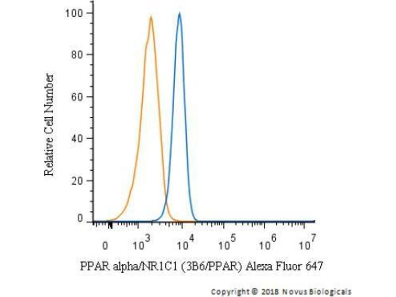Flow Cytometry (FACS) image for anti-Peroxisome Proliferator-Activated Receptor alpha (PPARA) antibody (ABIN152696)