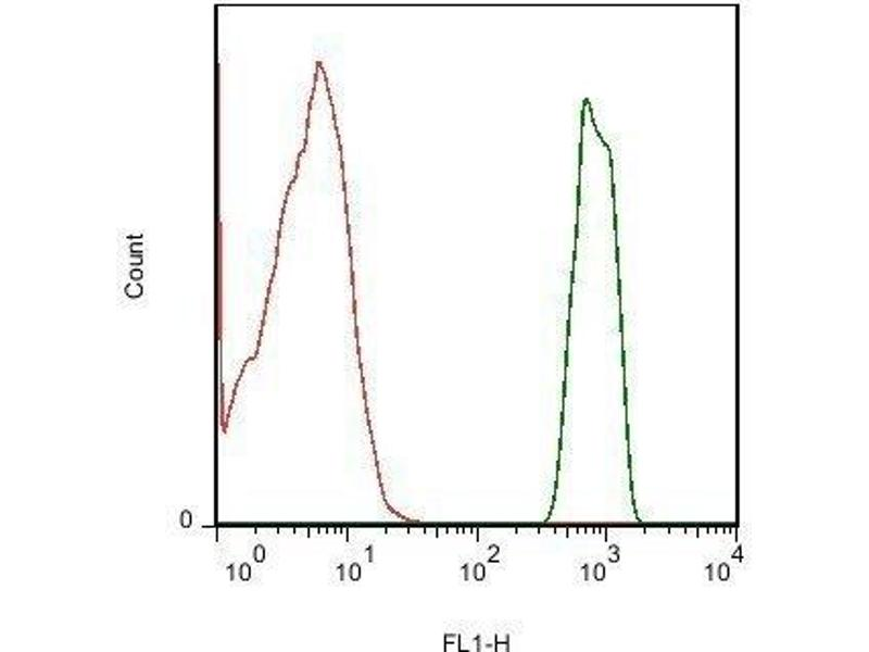 Flow Cytometry (FACS) image for anti-IL-13 antibody (Interleukin 13) (AA 30-75) (ABIN670116)