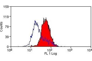Flow Cytometry (FACS) image for anti-Fas Ligand (TNF Superfamily, Member 6) (FASL) antibody (FITC) (ABIN614573)