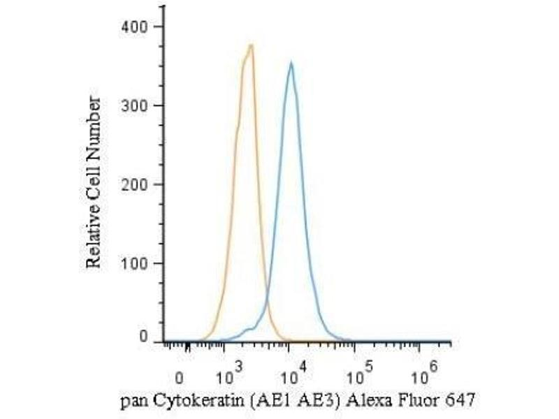 Intracellular Flow Cytometry (ICFC) image for anti-Cytokeratin 1 (KRT1) antibody (ABIN4302150)