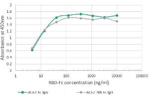 Image no. 1 for Angiotensin I Converting Enzyme 2 (ACE2) (inactive Mutant) protein (Fc Tag) (ABIN6953064)