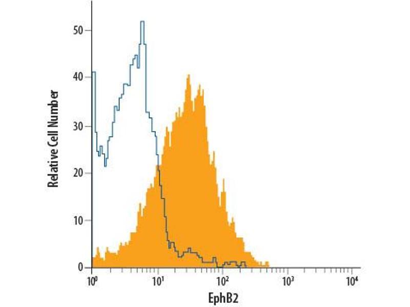 Flow Cytometry (FACS) image for anti-EPH Receptor B2 antibody (EPHB2) (AA 27-548) (Allophycocyanin) (ABIN4897095)